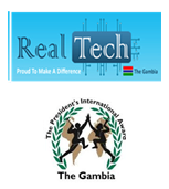 Real Tech Gambia Ltd and The President's International Awards, The Gambia (PIA)'s Logo'