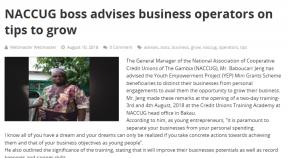 NACCUG boss advises business operators on tips to grow - COVER IMAGE
