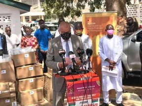 CURBING COVID-19: EU DONATES GAMBIA FACE MASKS AND OTHERS - COVER IMAGE